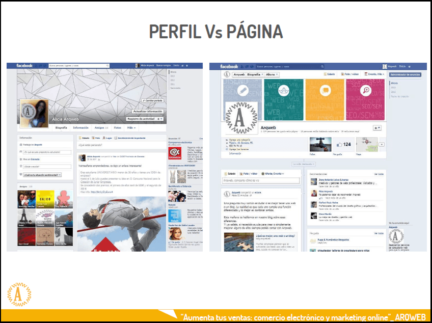 Perfil personal Vs Fan Page Facebook