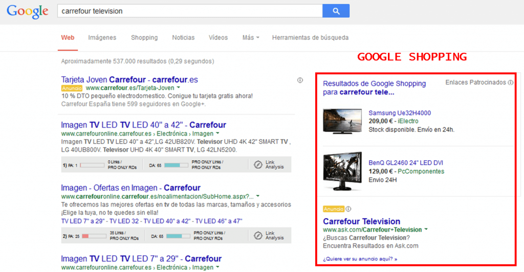 Google shoppin y Google Merchant Center es la mejor opción para vender tus productos de tu ecomerce con Adwords