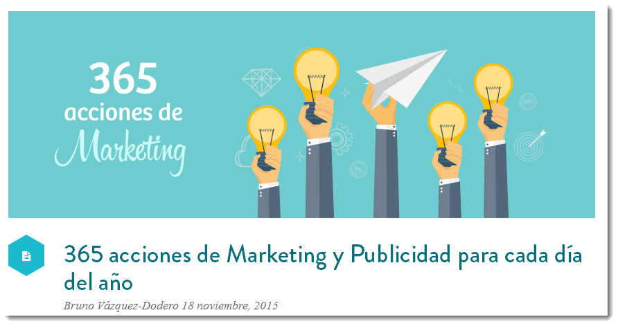una gran cantidad de ideas para marketing online