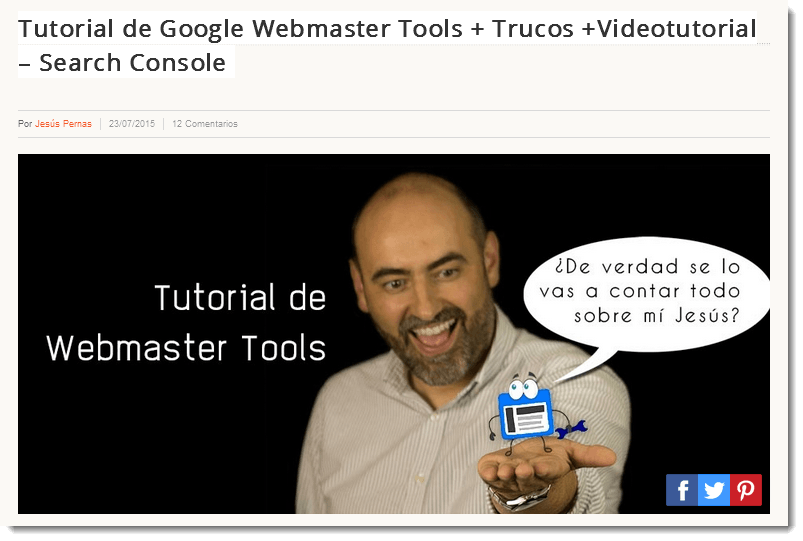 tutorial de antiguo web master tools
