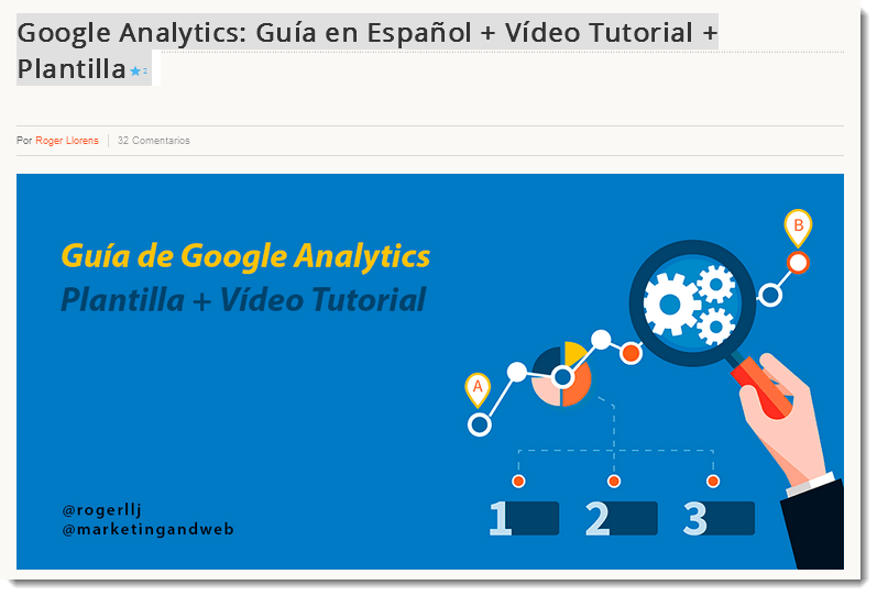 megatutorial de google analytics