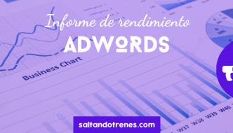 informes de rendimiento adwords