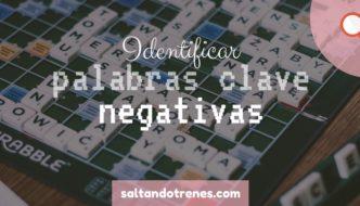 técnica de palabras clave negativa
